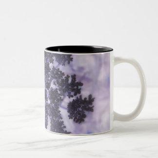 Deep Purple Lilacs Two-Tone Coffee Mug