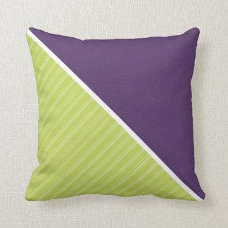 Deep Purple & Lime Green Pillows