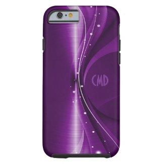 Deep Purple Metallic Retro Dynamic Wave Tough iPhone 6 Case