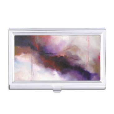 Professional Business Deep Purple Modern Abstract Business Card Case