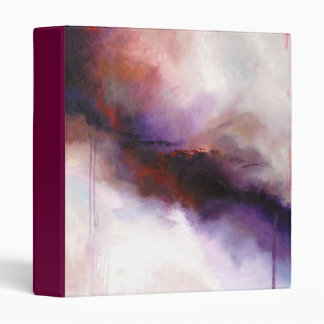 Deep Purple Modern Abstract -Kimberly Turnbull Art Binder