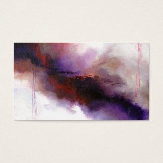 Deep Purple Modern Abstract (Kimberly Turnbull Art Business Card