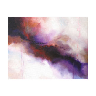 Deep Purple Modern Abstract -Kimberly Turnbull Art Gallery Wrap Canvas