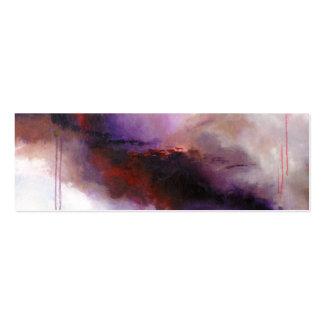 Deep Purple Modern Abstract (Kimberly Turnbull Art Mini Business Card