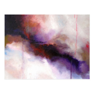 Deep Purple Modern Abstract (Kimberly Turnbull Art Postcard