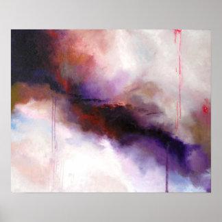 Deep Purple Modern Abstract -Kimberly Turnbull Art Poster