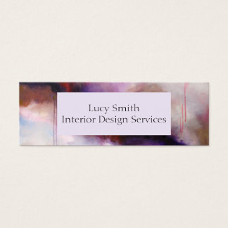 Deep Purple Modern Abstract Personalise Your Own Mini Business Card