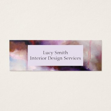 Professional Business Deep Purple Modern Abstract Personalise Your Own Mini Business Card