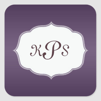 Deep Purple Monogram Sticker