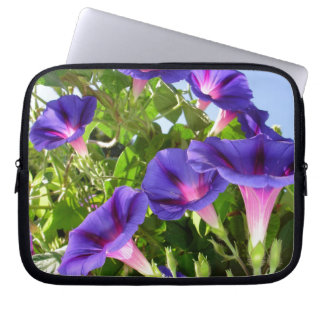 Deep Purple Morning Glory Climbing Plant Computer Sleeve