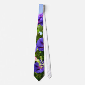 Deep Purple Morning Glory Climbing Plant Neck Tie