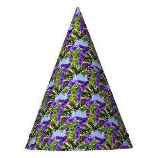 Deep Purple Morning Glory Climbing Plant Party Hat
