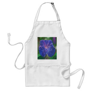 Deep Purple Morning Glory With Morning Dew Adult Apron