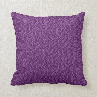 Deep Purple Oversized Leather Grain Pillow