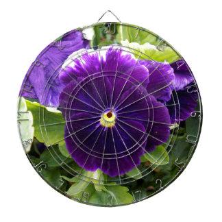 Deep Purple Pansies On Bush, Dart Board