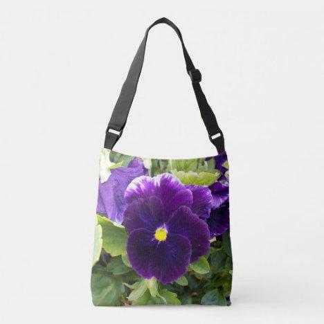 Deep Purple Pansy, Crossbody Bag