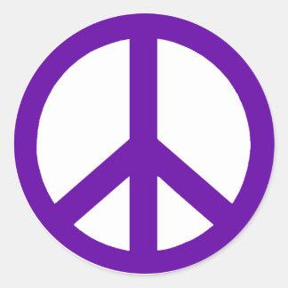 Deep Purple Peace Symbol Stickers