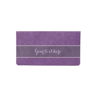 Deep Purple Personalized Checkbook Cover