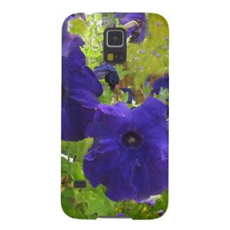 Deep Purple Petunia Designs Galaxy S5 Cover