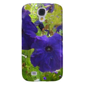 Deep Purple Petunia Designs Galaxy S4 Covers