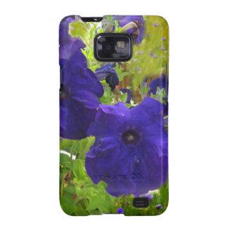Deep Purple Petunia Designs Galaxy S2 Case
