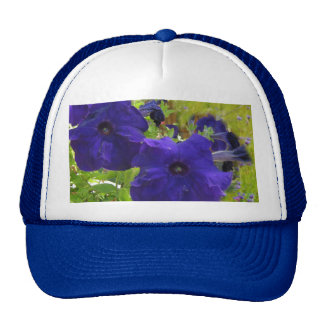 Deep Purple Petunia Designs Trucker Hat