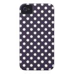 Deep Purple Polka Dot Iphone 4/4S Case iPhone 4 Cover
