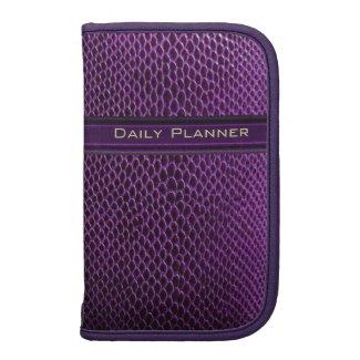 Deep Purple Reptile Skin Planner Folio