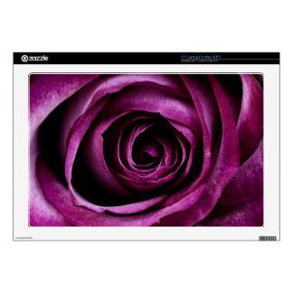 Deep Purple Rose Laptop Decals