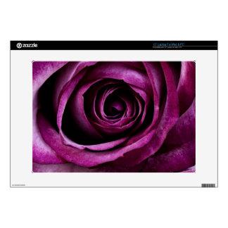 "Deep Purple Rose Skins For 15"" Laptops"