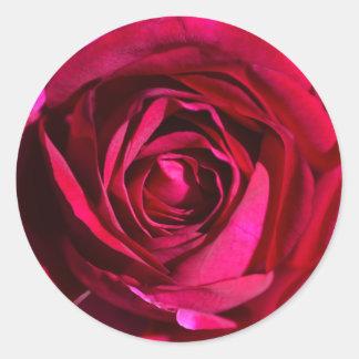 Deep Purple Rose Stickers