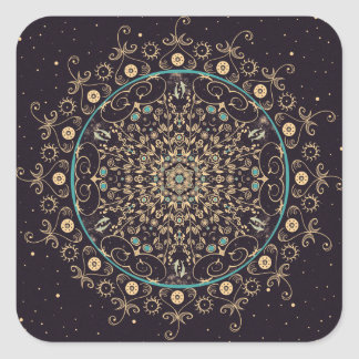 Deep Purple Sky Mandala Stickers