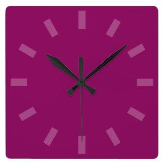 Deep Purple Solid Color Wall Clock
