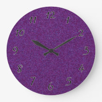 Deep Purple Sparkly Bits Large Clock