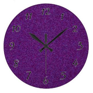 Deep Purple Sparkly Bits Large Clock