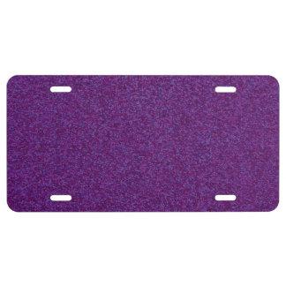 Deep Purple Sparkly Bits License Plate