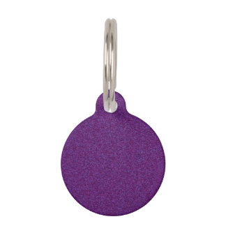 Deep Purple Sparkly Bits Pet Name Tag