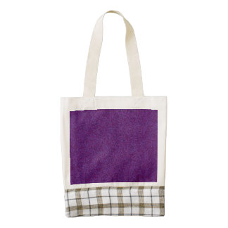 Deep Purple Sparkly Bits Zazzle HEART Tote Bag