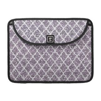 Deep Purple Sparkly Quatrefoil MacBook Pro Sleeve
