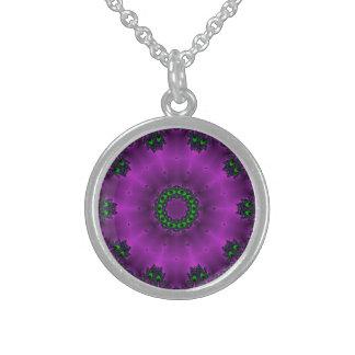 Deep Purple Sterling Silver Necklace