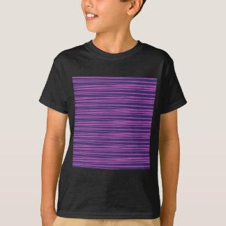 Deep Purple Stripes Pattern Gifts T-Shirt