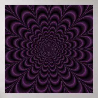 Deep Purple Succulent Poster