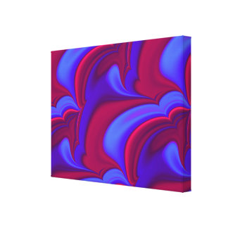 Deep Purple Swirls Canvas Print