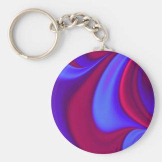 Deep Purple Swirls Key Chain