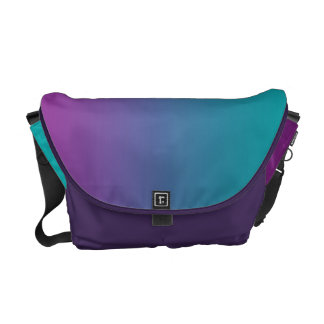 Deep Purple & Teal Ombre Messenger Bag