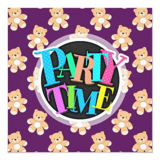 Deep Purple Teddy Bear, Bears Card
