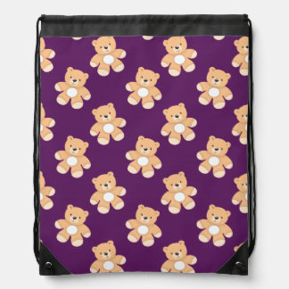 Deep Purple Teddy Bear, Bears Cinch Bag