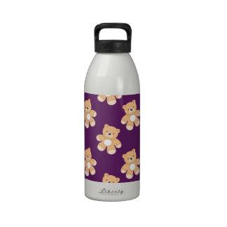 Deep Purple Teddy Bear Bears Drinking Bottle