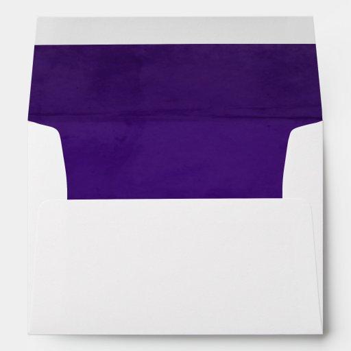 deep purple velvet textured lining a7 envelope zazzle