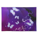 Deep Purple Watercolor Butterfly American MoJo Pla Cloth Placemat